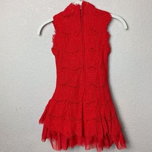 Rare Editions Dresses - Girls Rare Editions Red Lace Dress - 10